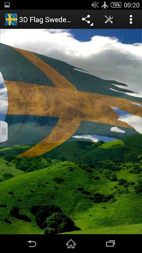3D Flag Sweden LWP