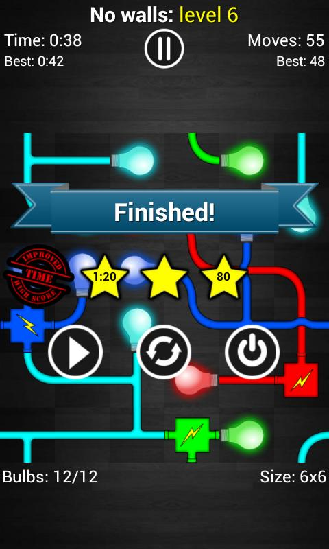Power the Bulbs - Logic game - screenshot