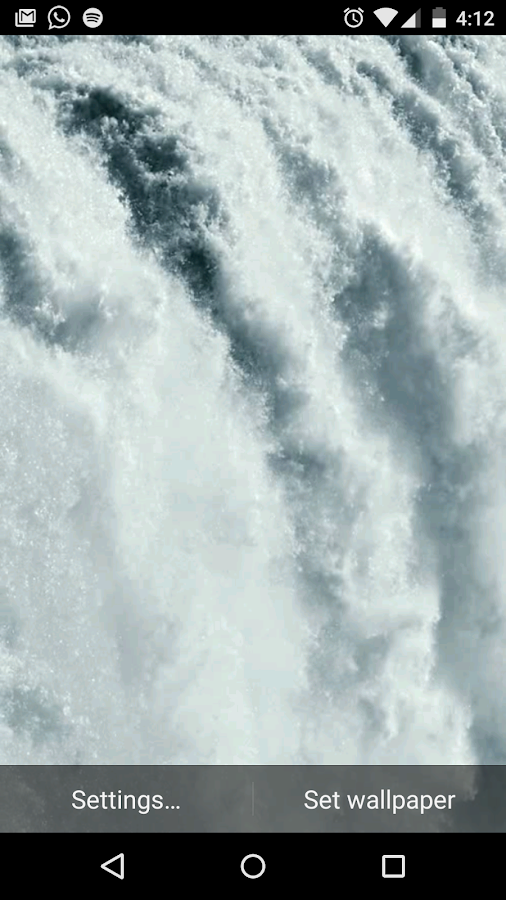 Waterfall Live Wallpaper Video - screenshot