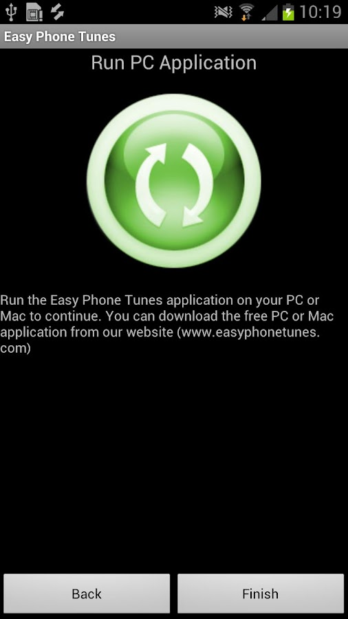Easy Phone Tunes (iTunes Sync) - screenshot
