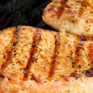 Oolong and Rosemary-Brined Boneless Pork Chops.