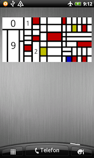 Mondrian Widget Clock- screenshot thumbnail