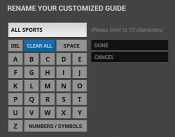 Rename customized guide on legacy Fiber TV