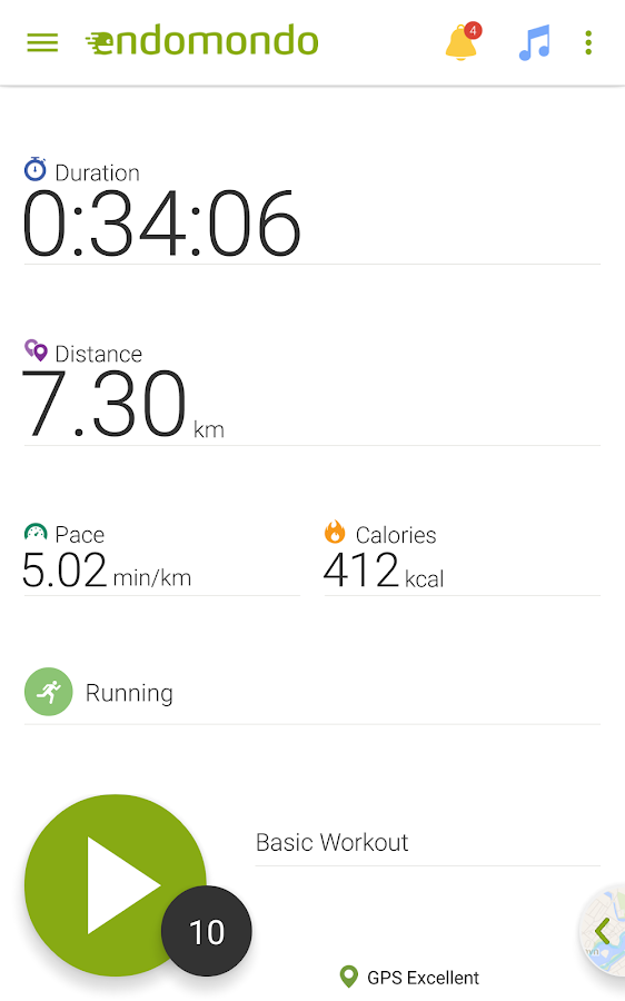 Endomondo Running Cycling Walk - screenshot