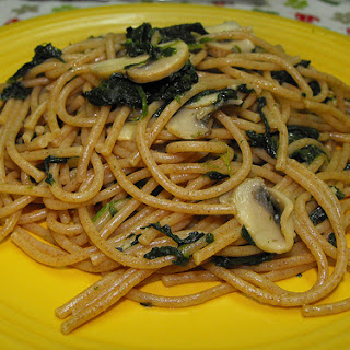 Mushroom and Spinach Spaghetti