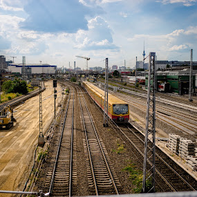 Berlin, S Warschauer Strasse by Manuel Herrmann - Transportation Railway Tracks ( railway )