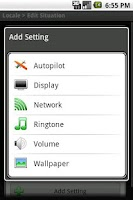 Screenshot of Locale Airplane Mode Plug-in
