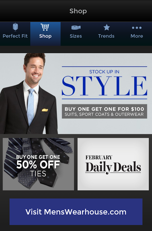 Mens Wearhouse is a retail store with great discounts and great deals on suits, sportcoats, shoes, and more. There is also a Rewards program called Perfect Fit where you can earn even more discounts with the Men's Wearhouse. Mens Wearhouse Gift Cards. Check Mens Wearhouse Gift Card Balance online, over the phone or in store using the.
