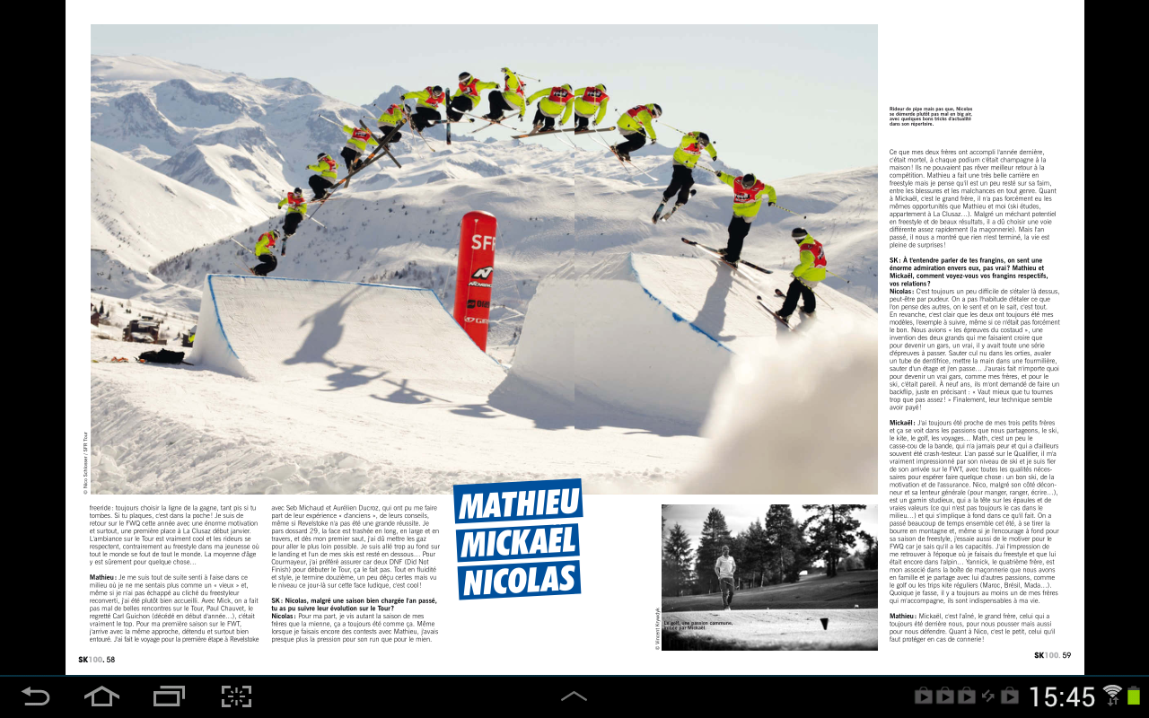 Skieur Magazine- screenshot