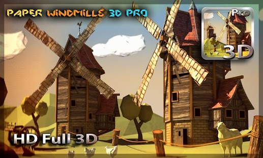 Paper Windmills 3D Pro lwp- screenshot thumbnail