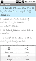 Screenshot of Telugu Bible