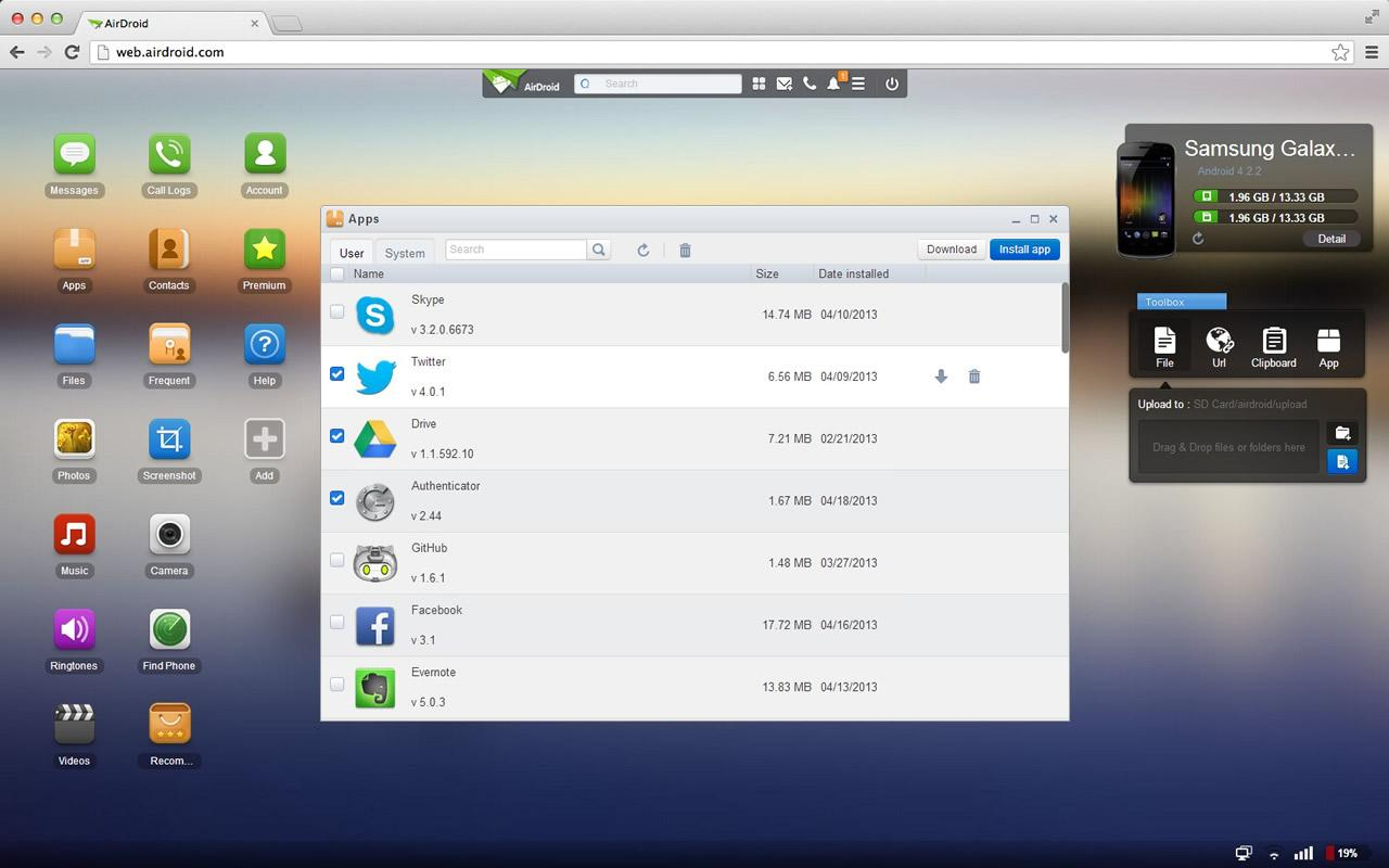 AirDroid - screenshot