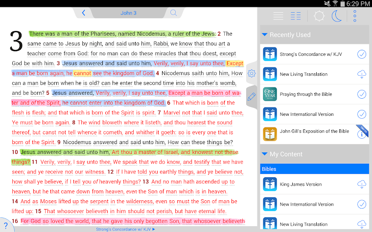 Strong's Concordance with KJV Screenshot