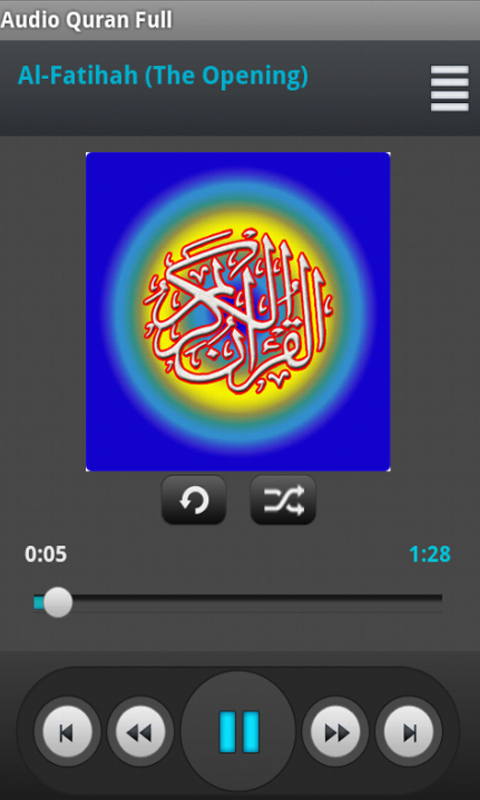 Audio Quran Translation Sudais - screenshot