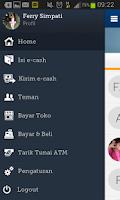 Screenshot of mandiri e-cash