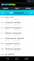 Screenshot of Sportkoll Fotboll