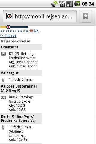 RejseplanQuick- screenshot