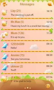 GO SMS Z Cute Garden Theme EX - screenshot thumbnail