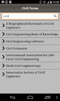 Screenshot of Civil Terms