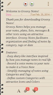 Groovy Notes – Personal Diary v1.3.4 (Paid) APK 2