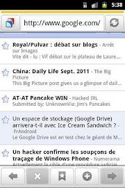 Zirco Browser Screenshot 2