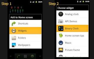 Screenshot of Binary Clock Widget