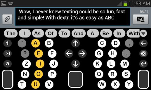 Dextr Alphabetic Keyboard 2.0 - náhled