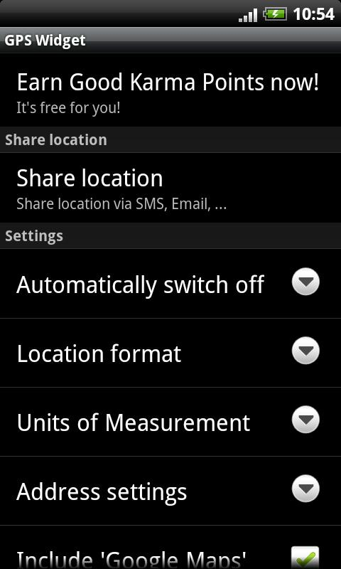 GPS Widget - screenshot