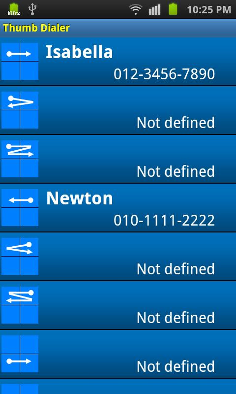 Thumb Dialer- screenshot