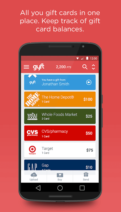 Gyft - Mobile Gift Card Wallet - screenshot