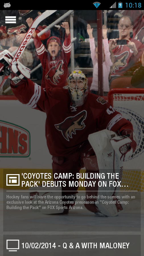 Arizona Coyotes- screenshot
