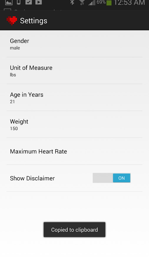 CardiometerFree ANT Heart Rate - screenshot