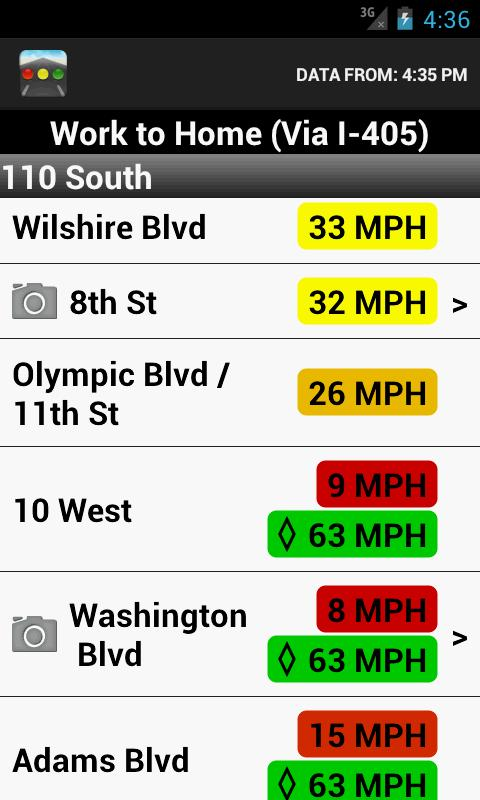 Sigalert - Traffic Reports - screenshot