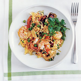 Shrimp and Sausage with Saffron Rice