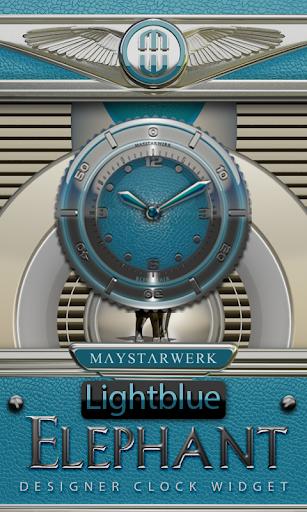 Clock Widget Lightblue Eleplan