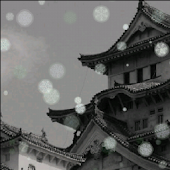 Snow Japanese Castle