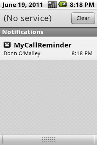 My Call Reminder - screenshot