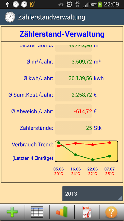 HB-Verbrauchszähler Lite - screenshot