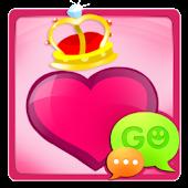 GO SMS Pro Crazy Hearts Theme