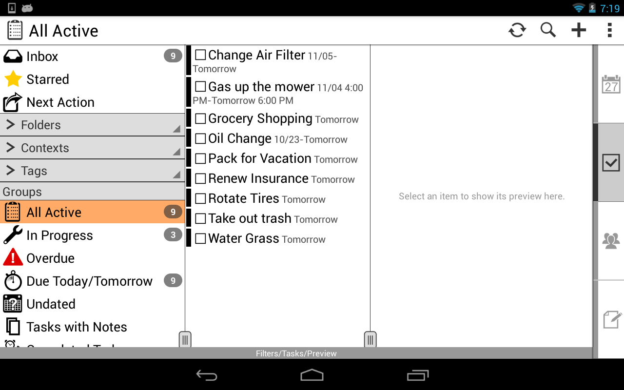Pocket Informant 3 Demo - screenshot