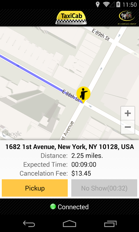 TaxiCab Driver App- screenshot