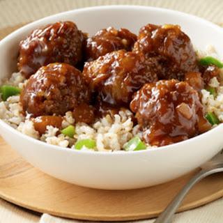 Hawaiian Meatballs and Rice.