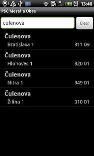 PSČ Slovenské Mestá (PSC) - screenshot thumbnail