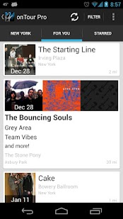 onTour - Concert Finder - screenshot thumbnail