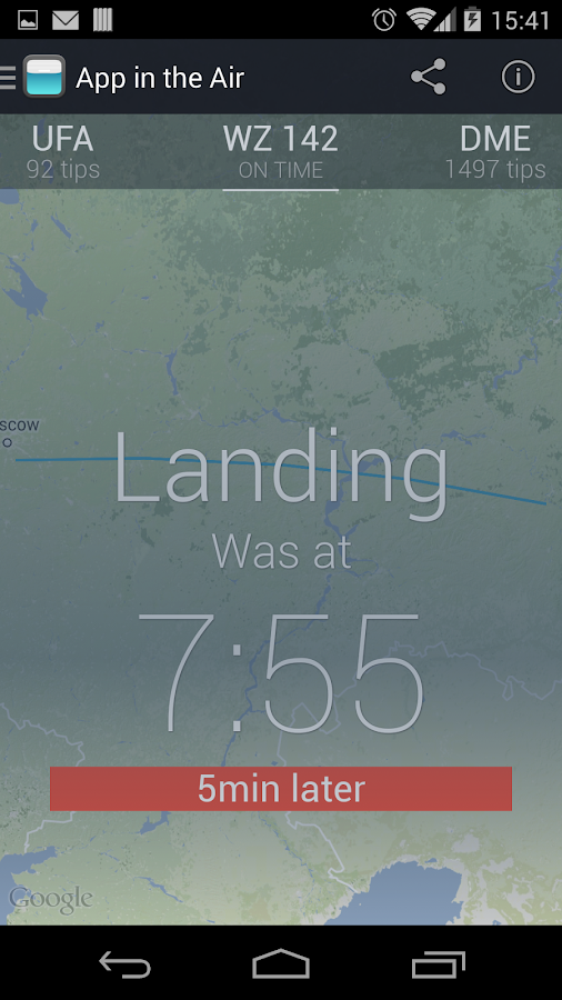 App in the Air - Track Flight - screenshot