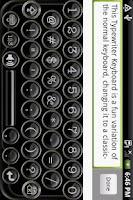 Screenshot of Typewriter Keyboard