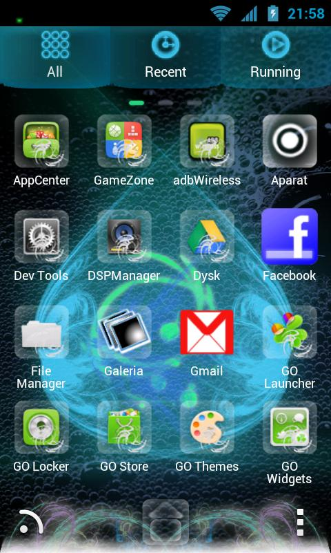 GO Launcher EX Modern Theme - screenshot