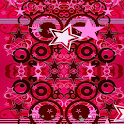 Pink Star Bright in 3D icon