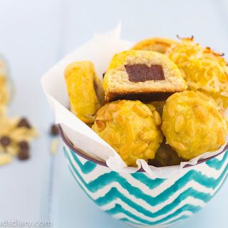 Panellets ~ Marzipan traditional Sweet from Cataluna, Spain.