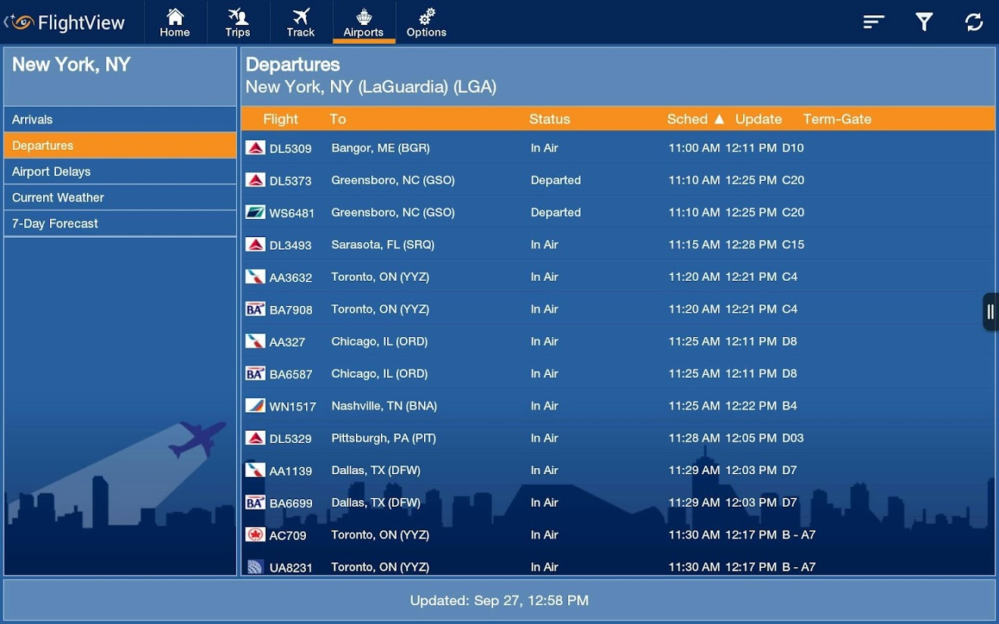 FlightView Elite FlightTracker - screenshot